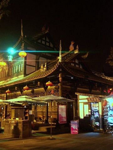 Jinli street - Wuhou theatre by night