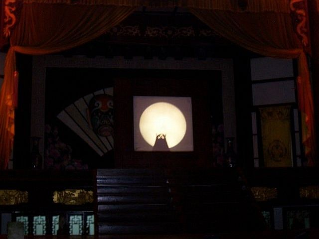 Wuhou theatre - Owl in Chinese shadow