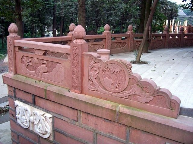 QingYang gong temple - Balustrade with decorations