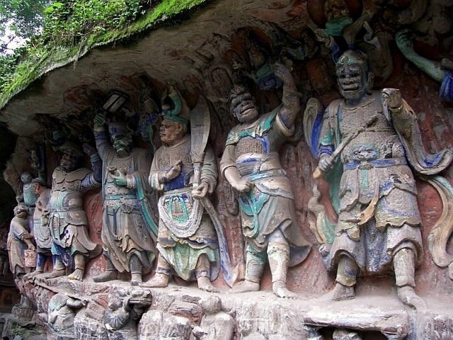 Baoding - Buddhist niche of the guardians of the law