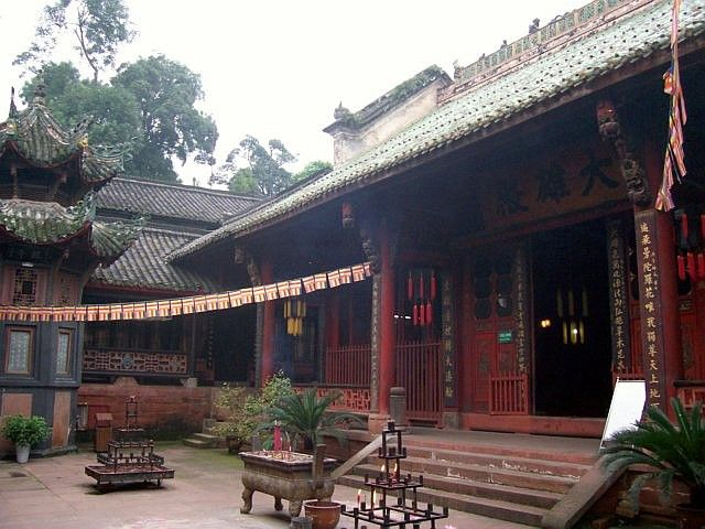 Leshan Buddhist site - Entrance of Wuyou temple
