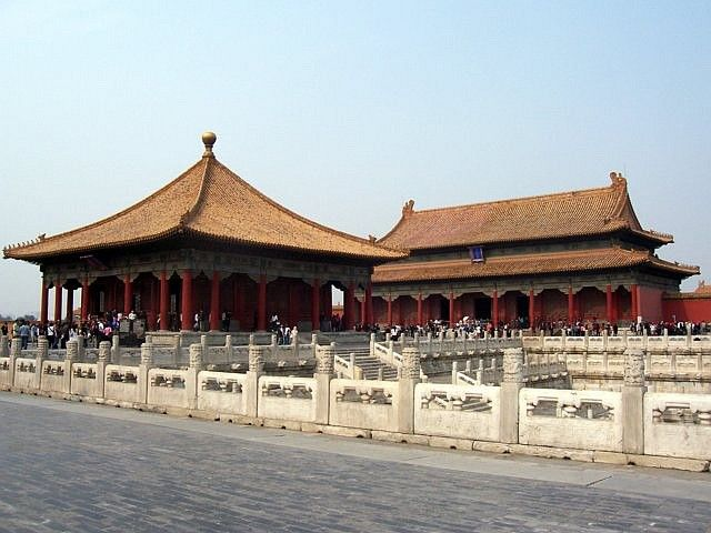 Forbidden city - Hall of central harmony and hall of preserving harmony