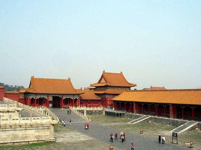 Forbidden city - Overlooking a courtyard