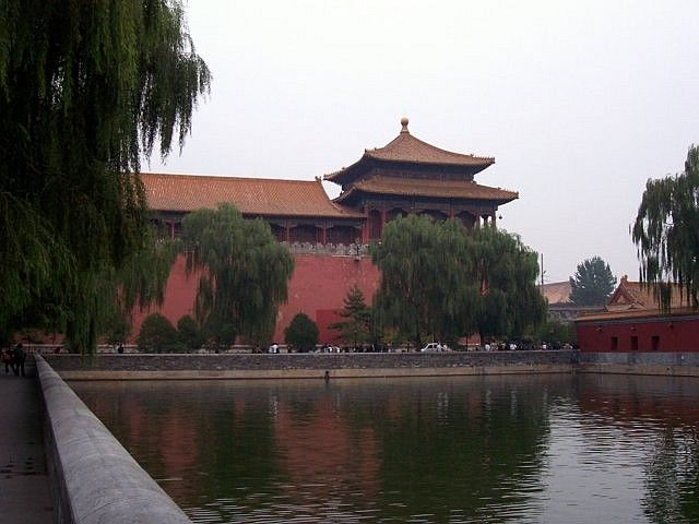Moat surrounding the forbidden city