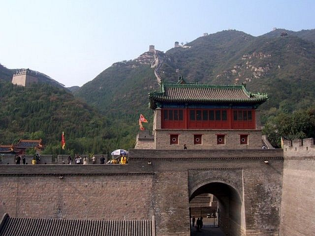 Juyong pass - the great wall going up