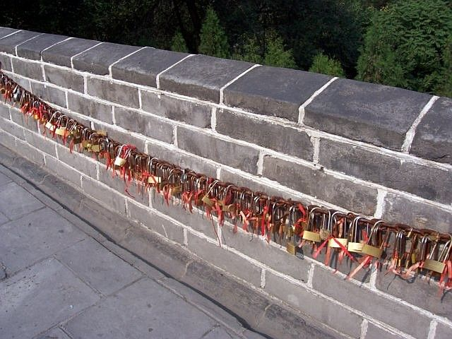 Juyong pass - the lovers' padlocks