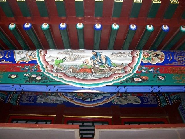 Summer palace - Beams decorated with characters