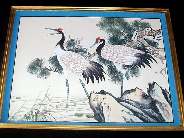 Summer palace - Painting of cranes