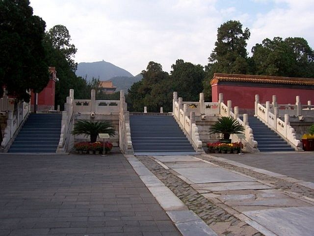 Dingling - Staircase formerly leading to the hall of eminent favors