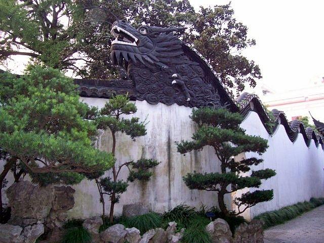 Photo jardin yu dragon ondulant sur les murs for Jardin yu shanghai