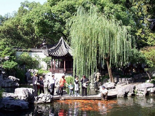 Photo jardin yu sous le saule pleureur for Jardin yu shanghai