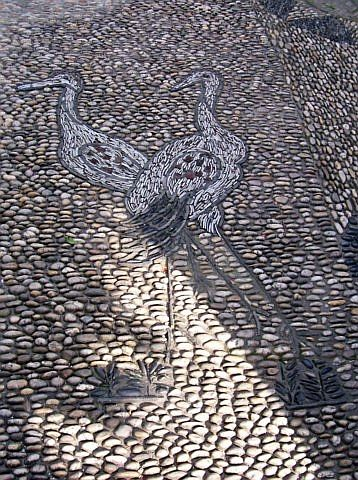 Humble administrator's garden - Cobblestones with crane pattern