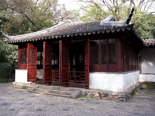 Humble administrator's garden - Pavilion with its doors open