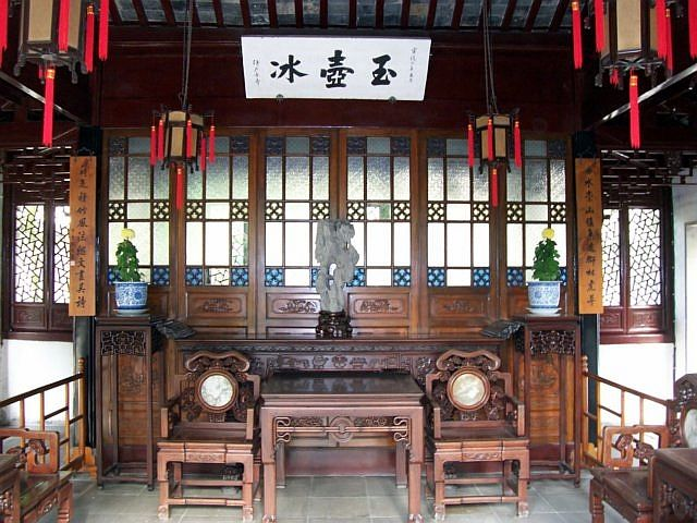 Humble administrator's garden - Inside a pavilion