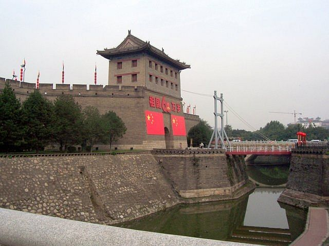 Battlements of the south gate of Xian