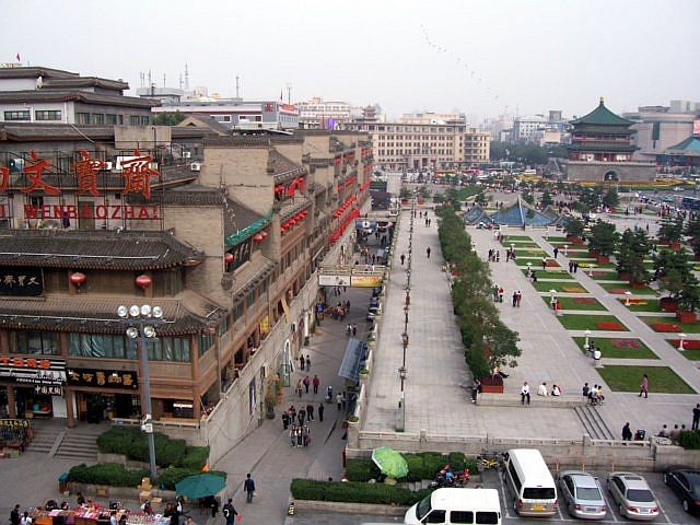 Xian city - Between the bell tower and the drum tower