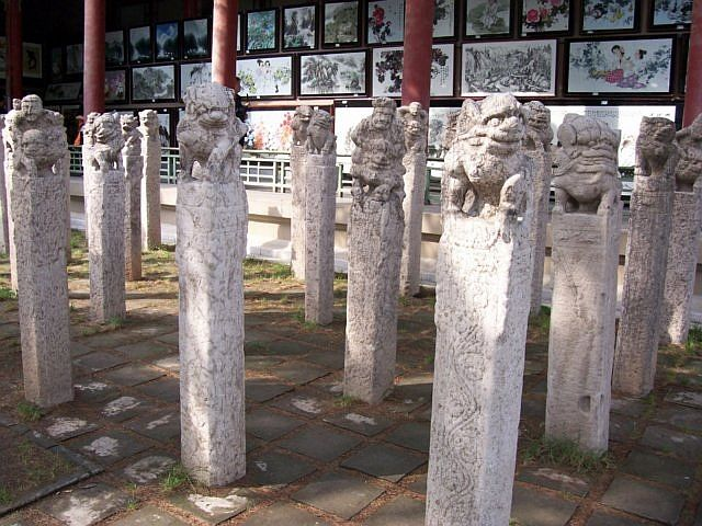 Forest of steles - Stone columns