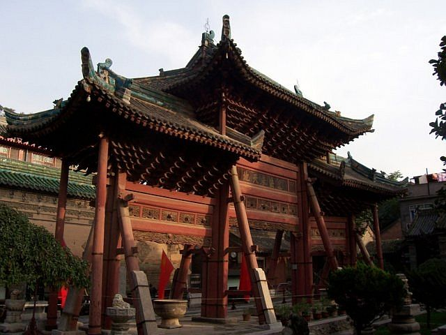 Great mosque - Wooden paifang memorial