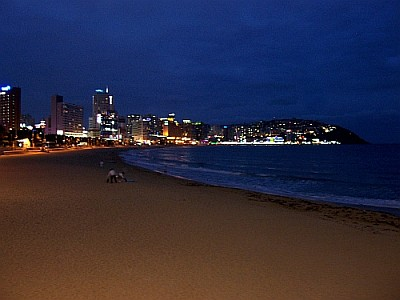 Haeundae beach by night