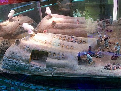 Model of ancient kilns