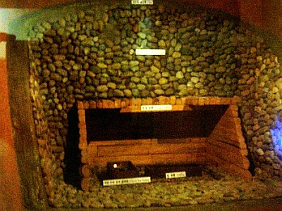 Model of the inside of a grave from Silla