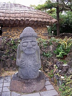 Basalt statue of Jeju-do (dol-harubang)