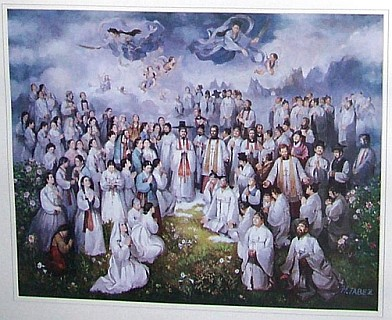 Representation of St. Andrew Kim Taegon and martyrs of Korea