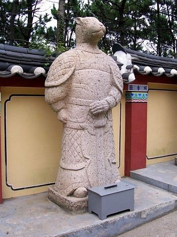 Haedong Yonggungsa temple - One of the statues of the Chinese horoscope