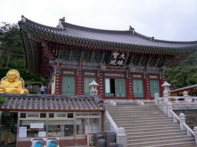 Haedong Yonggungsa temple and stairs