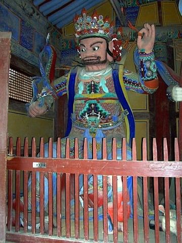Tongdosa temple - King of Heaven, guardian of the west