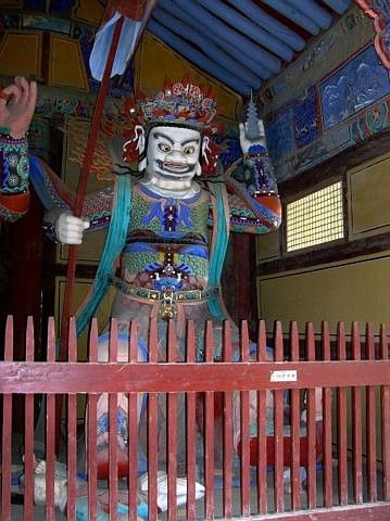 Tongdosa temple - King of Heaven, guardian of the north