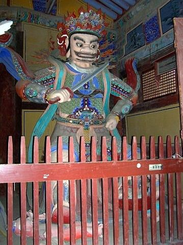 Tongdosa temple - King of Heaven, guardian of the south
