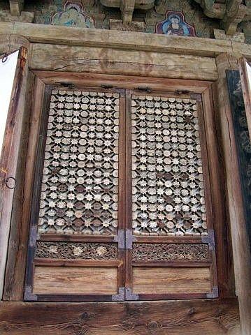 Photo temple tongdosa porte fen tre for Porte fenetre in english