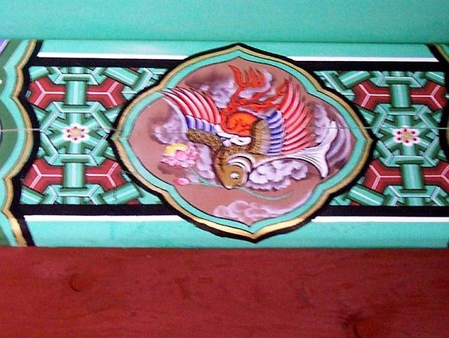 Bomunsa temple - Decoration on a beam