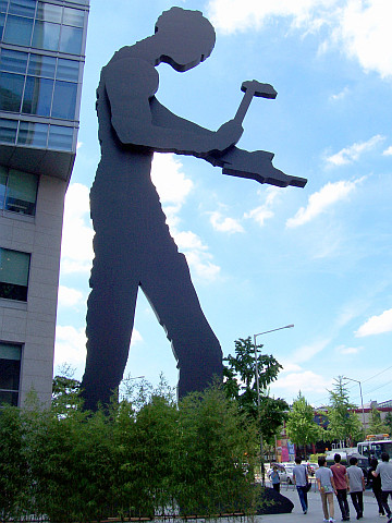 The hammer man of Seoul