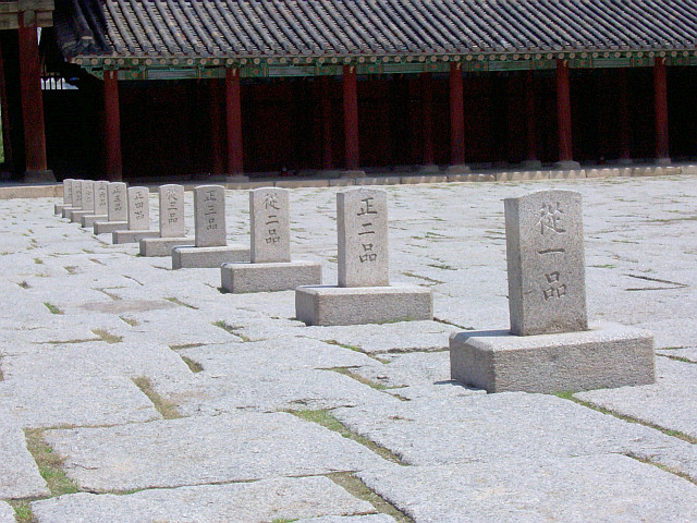 Changgyeonggung palace - Marks for officials