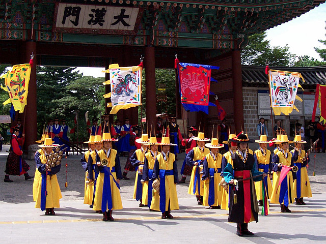 Deoksugung palace - Changing of the guard, end of the music