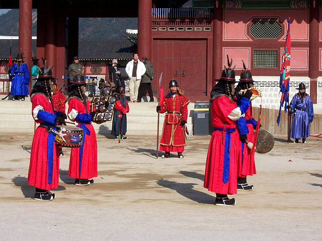 Gyeongbokgung palace - Musicians of the company