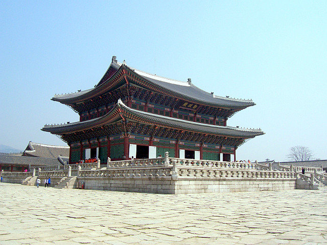Gyeongbokgung palace - Geunjeongjeon seen from an angle