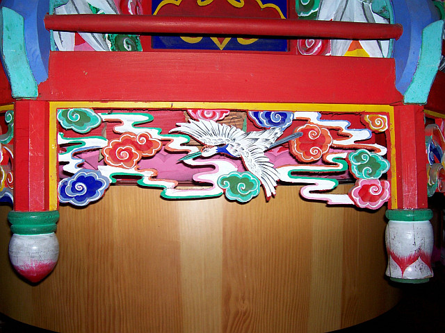 Bongwonsa temple - Decorations (with crane)