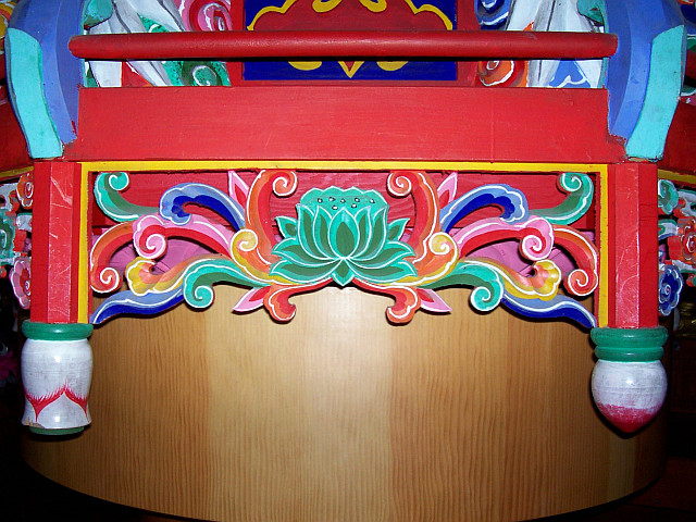 Bongwonsa temple - Decorations (with lotus flower)
