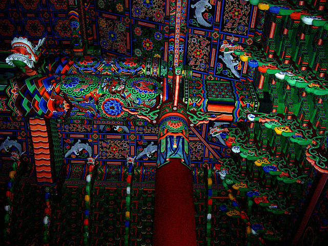 Bongwonsa temple - Decorations of the beams