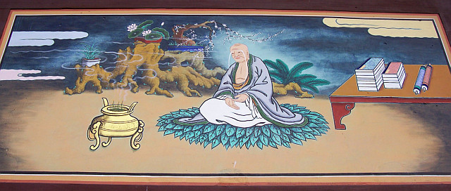 Bongwonsa temple - Wooden Buddhist painting