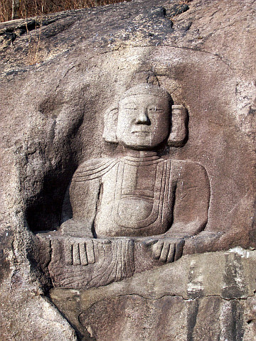 Guksadang temple - Buddha carved in rock