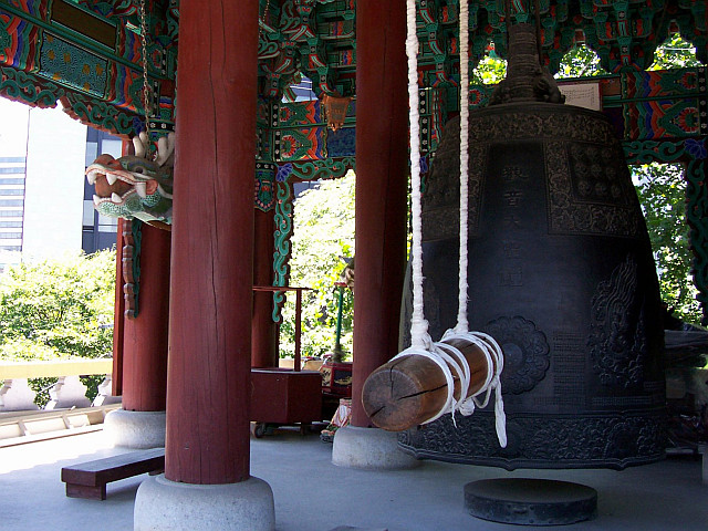 Jogyesa temple - Bell of the belfry