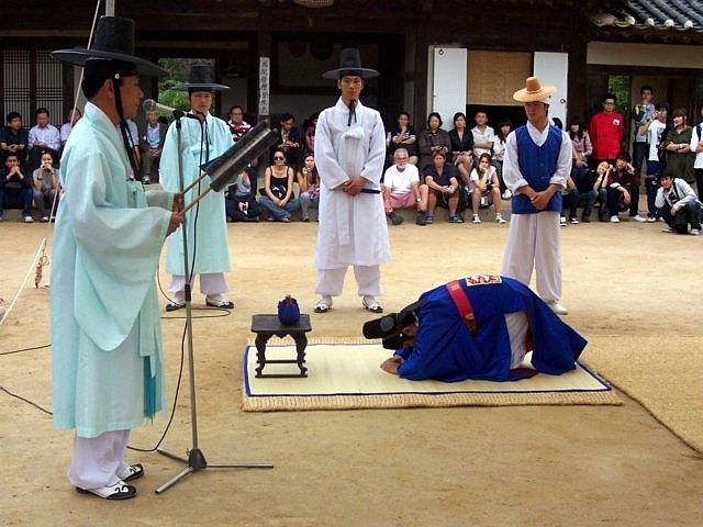 Yong-in folk village - Traditional wedding ceremony show (2/6)