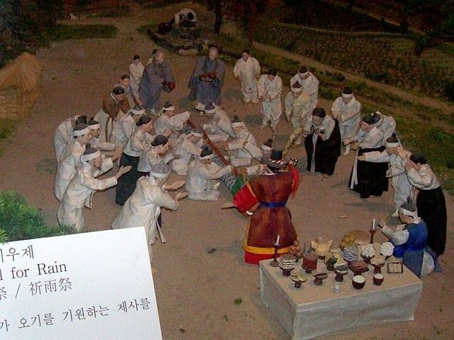 Yong-in folk village - Model of a ceremony for rain