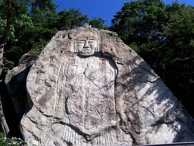Woraksan - Bas-relief in the mountain