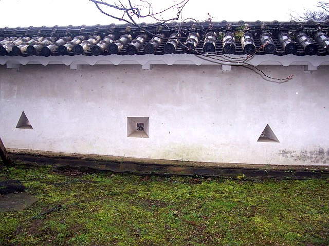 Himeji castle - Decorative Arrow slits