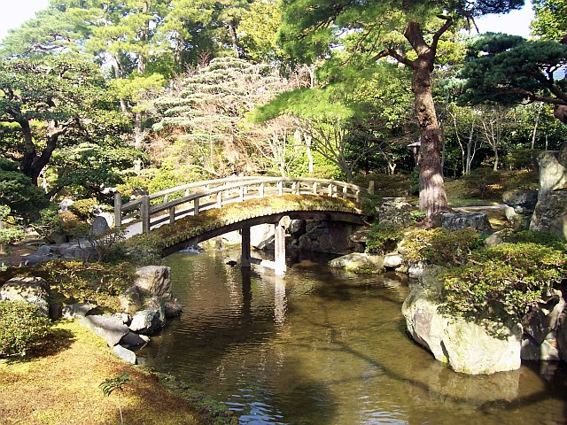 Imperial palace - Moss Garden with footbridge